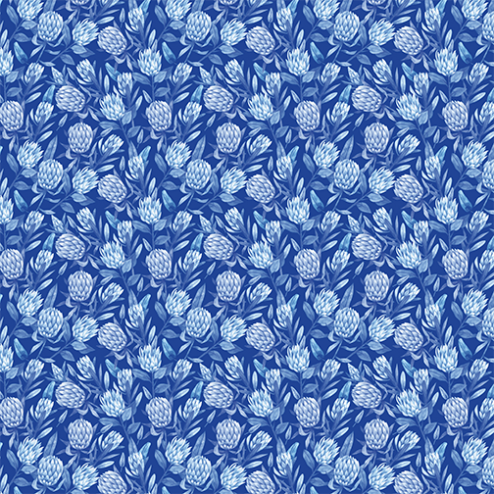 Blue Protea Floral Pattern - Sample Kit