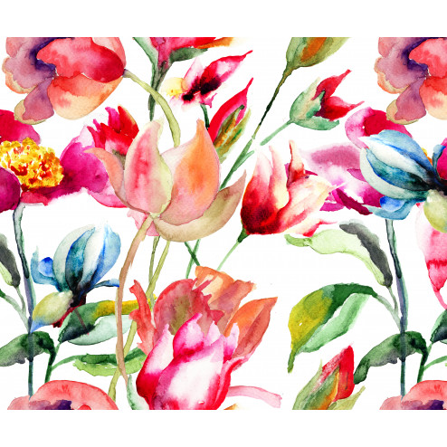 Bright Watercolor Flowers - Sample Kit