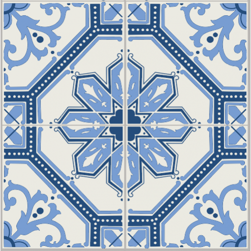 Blue Mosaic Pattern - Sample Kit