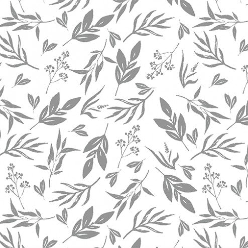 Leaves and Stems Pattern - Sample Kit-Gray