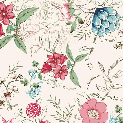Watercolor Pop of Floral Pattern - Sample Kit