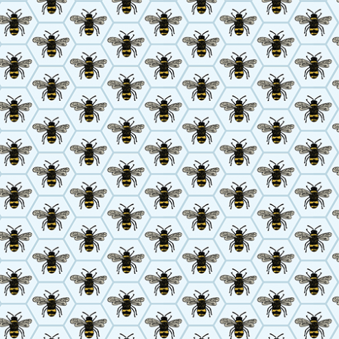 Queen Bee Pattern-Blue - Sample Kit