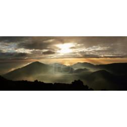 Mysterious sunrise over Haleakala crater