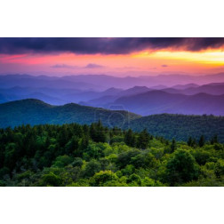 Sunset from Cowee Mountains Overlook, on the Blue Ridge Parkway