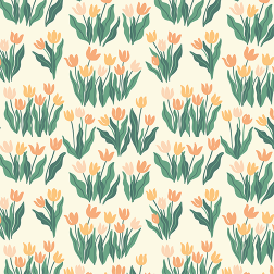 Blooming Tulips Pattern