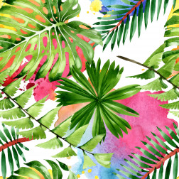 Botanical Palms Pattern - Sample Kit