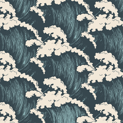 Crashing Waves Pattern