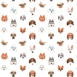 Dogs With Glasses Pattern