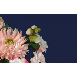 Navy & Pink Floral Bouquet