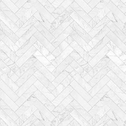 Herringbone White Marble Tile Pattern - Sample Kit