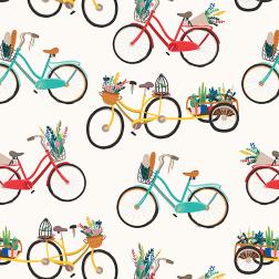 Illustrated Bikes Pattern - Sample Kit