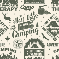 Let's Go Camping Pattern