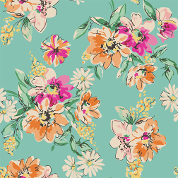 Orange and Pink Floral Pattern