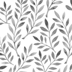 Leaves Pattern (B&W)