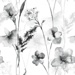 Wild Flowers (B&W) - Sample Kit