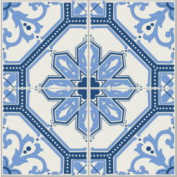 Blue Mosaic Pattern