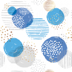 Circles Pattern - Sample Kit-Blue