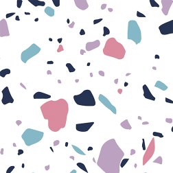 Confetti Pattern - Sample Kit-Colorful with white background