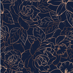 Copper Rose Pattern