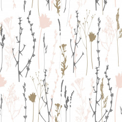 Floral Stems Silhouette Pattern - Sample Kit