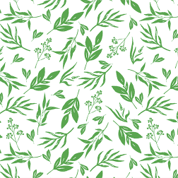 Leaves and Stems Pattern - Sample Kit-Green