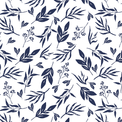 Leaves and Stems Pattern - Sample Kit-Navy