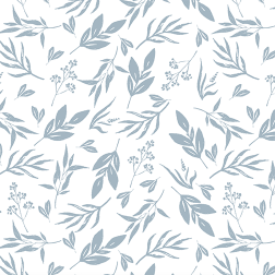 Leaves and Stems Pattern - Sample Kit-Slate Blue
