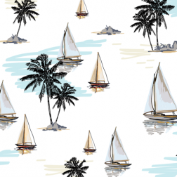 Sail and Palms Pattern - Sample Kit