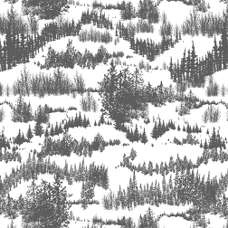 Snowy Pines Pattern