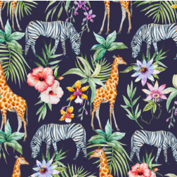Tropical Watercolor Pattern - Sample Kit
