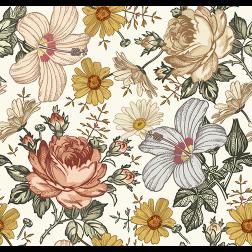 Vintage Wildflower Pattern