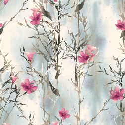 Watercolor Pink & Gray Grass Pattern - Sample Kit