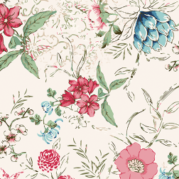 Watercolor Pop of Floral Pattern