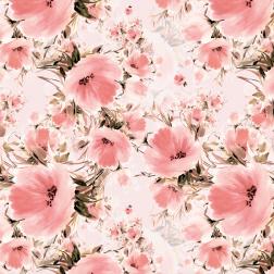 Pink Watercolor Bouquet Pattern