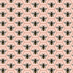 Queen Bee Pattern-Pink - Sample Kit