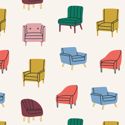 Vintage Chair Pattern - Sample Kit